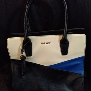 Vintage Tricolor Nine West Leather Purse/Tote